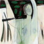 Die Fängerin, 2008, Acryl/Kohle/Schellack auf Holzfaserplatte, 80 x 80 cm