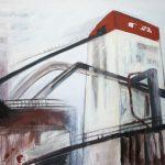 Speicher 1, 2009, Acryl/Kreide/Schellack auf MDF, 100 x 120 cm