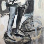 von A nach B, 2011, Kreide/Acryl/Schellack auf MDF, 80 x 80 cm