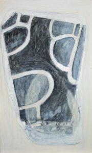 Straßen Räume (Salzgitter-Lebenstedt 1), 2012, Wachs/Acryl/Graphit auf MDF, 50 x 30 cm