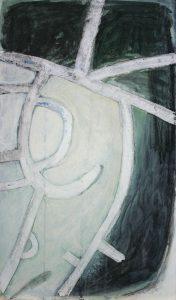 Straßen Räume (Salzgitter-Salder), 2012, Wachs/Acryl/Graphit auf MDF, 50 x 30 cm