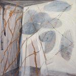 durch, 2012, Wachs/Graphit/Acryl auf MDF, 80 x 80 cm