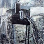 oben (Hochsitz), 2012, Wachs/Acryl auf MDF, 95 x 80 cm