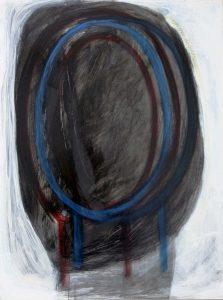 Kopf (Un Mar De Sueño), 2013, Graphit/Acryl/Schellack auf MDF, 80 x 60 cm