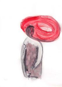 Lo specchio del passato 3, 2013, Aquarell auf Papier, 30 x 21 cm