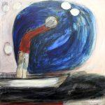Tamburello, 2013, Acryl/Schellack auf MDF, 80 x 80 cm