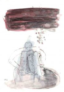 Fisarmonica 2, 2013, Aquarell/Graphit auf Papier, 30 x 21 cm