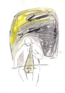 Lira, 2013, Aquarell/Graphit auf Papier, 30 x 21 cm