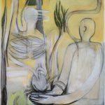 L'arrache-coeur, 2013, Acryl/Kohle auf Leinwand, 157 x 118 cm