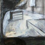 Der Raum ohne Zeit, 2015, Acryl/Schellack auf MDF, 95 x 80 cm