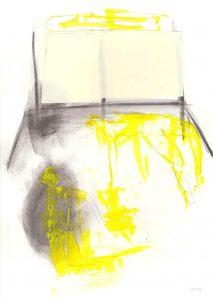 Gespenster 1, 2015, Acryl/Kohle/Graphit auf Papier, 30 x 21 cm