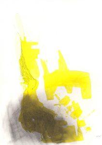 Gespenster 3, 2015, Acryl/Kohle/Graphit auf Papier, 30 x 21 cm