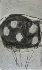 Juni 1, 2010, Acryl/Graphit/Kohle/Schellack auf MDF, 50 x 30 cm