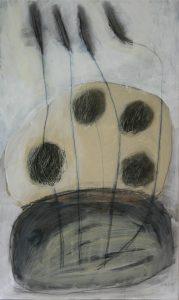 Juni 3, 2010, Acryl/Graphit/Kohle/Schellack auf MDF, 50 x 30 cm